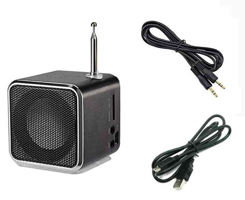 Mp3 Music Player Card Receiver, Portable Mini Radio Digital Fm Speaker