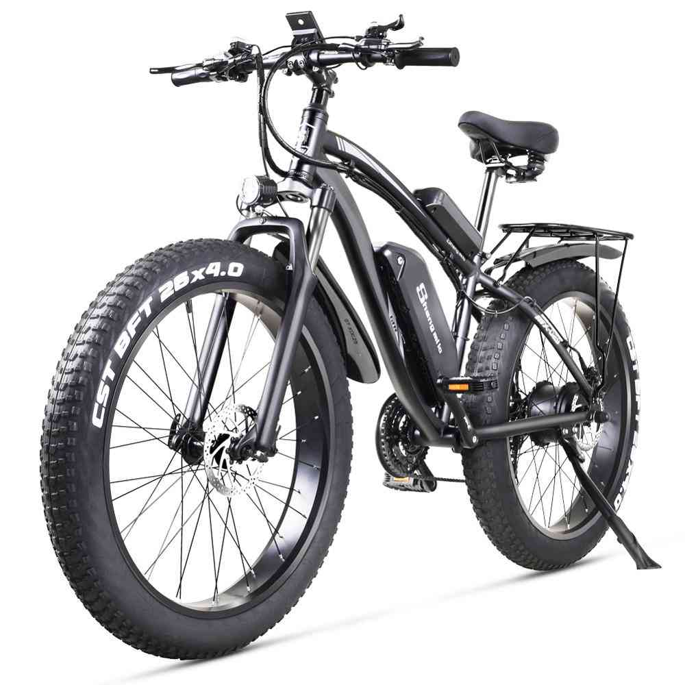 Electric Bike, Fat Beach Cruiser Lithium Battery Mountain Bicycle