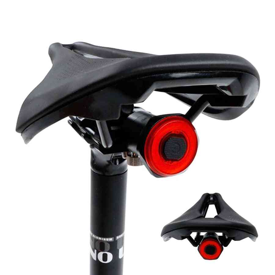 Smart Bicycle Rear Light Auto Start / Stop Brake Sensing Waterproof Usb Charge Taillight