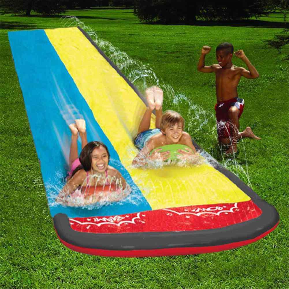 Children Double Surf Water Slide Spray Summer Games Toy