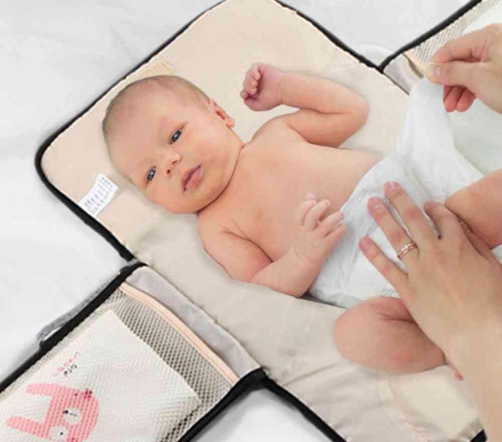 Portable Baby Diaper Pad, Waterproof Multi-function Bag