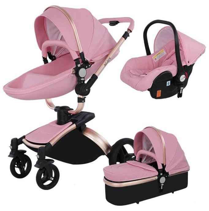 Baby Walker High Landscape Folding Strollers, Trolley Pram
