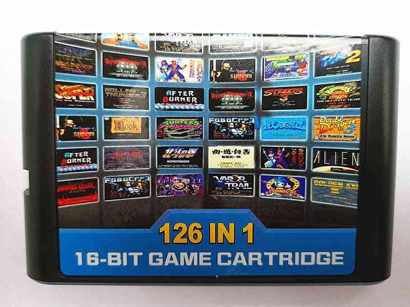 126 In 1-16 Bit Game Cartridge For Mega Drive Genesis Console