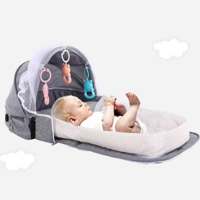 Portable Baby Bed Foldable Multifunction Cribs For Newborns Travel Sun Protection