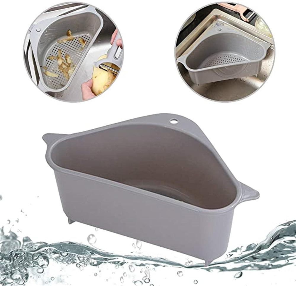 Triangular Sink Strainer Drain Vegetable Fruit Basket