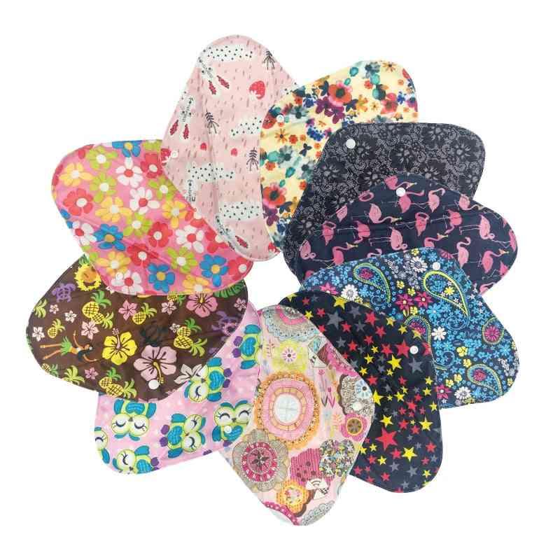 Sanitary Pads, Reusable & Washable Charcoal Cloth, Menstrual Pad With Wet Bag