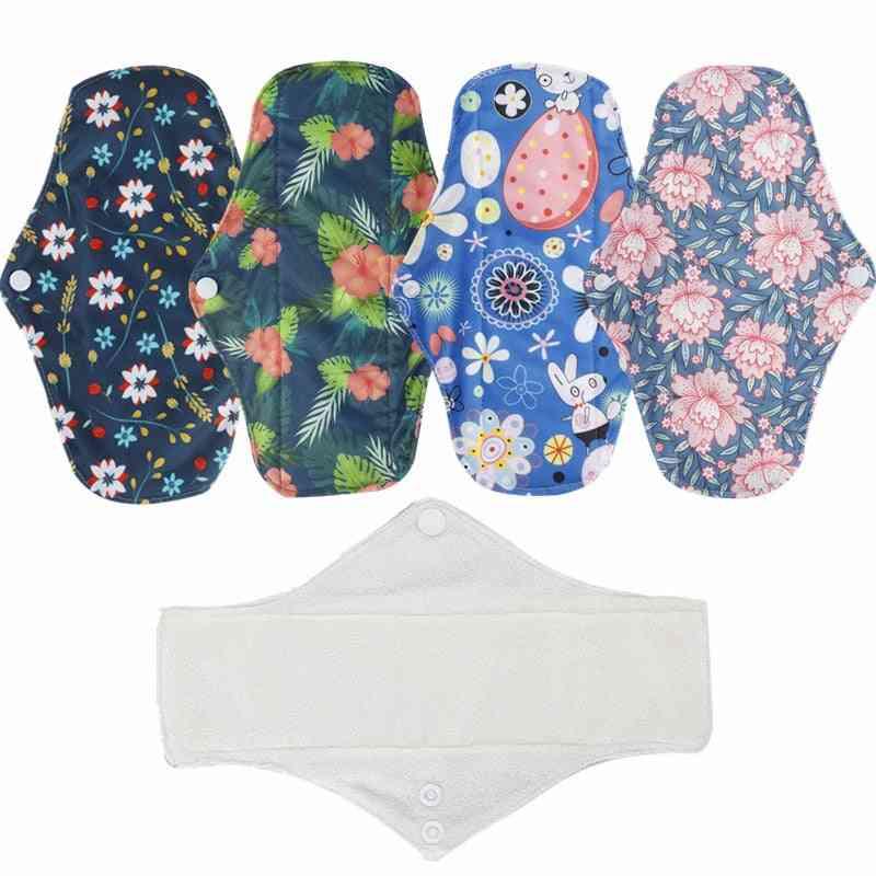 Bamboo Fiber Sanitary Pad, Reusable Health Hygiene Feminine Menstrual Pads