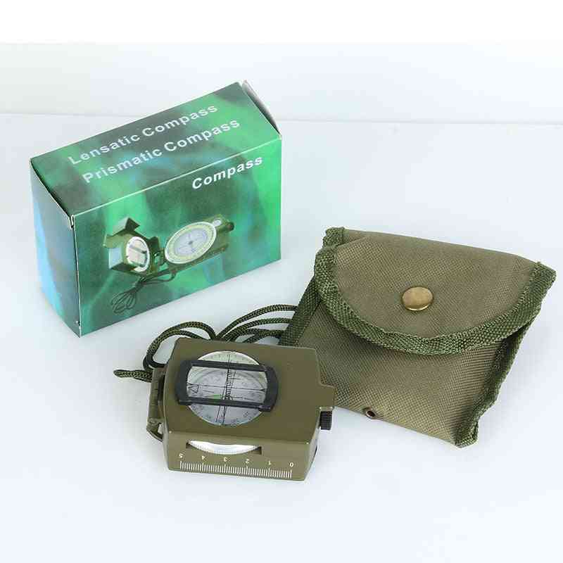 Professional Military Army Metal Sighting Compass Clinometer Camping Outdoor Tools