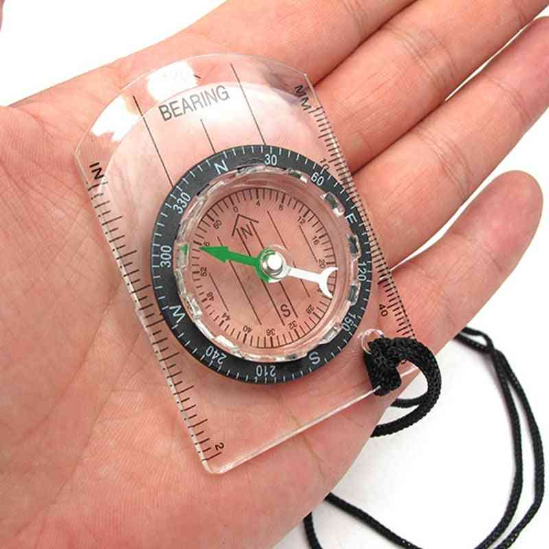 Outdoor Camping / Hiking - Transparent Plastic Compass
