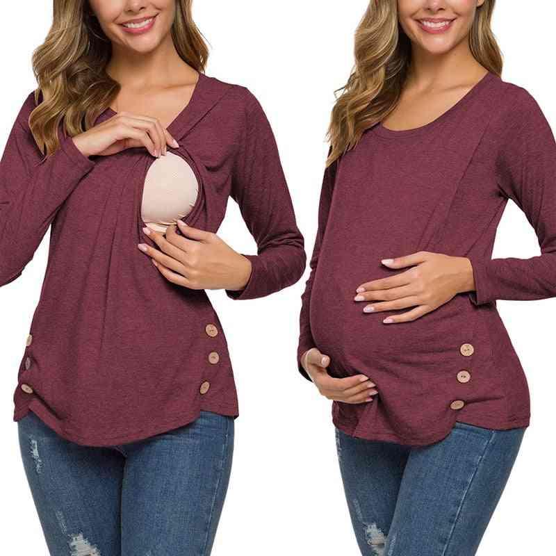 Women's Pregnancy Long Sleeve Nursing Tops