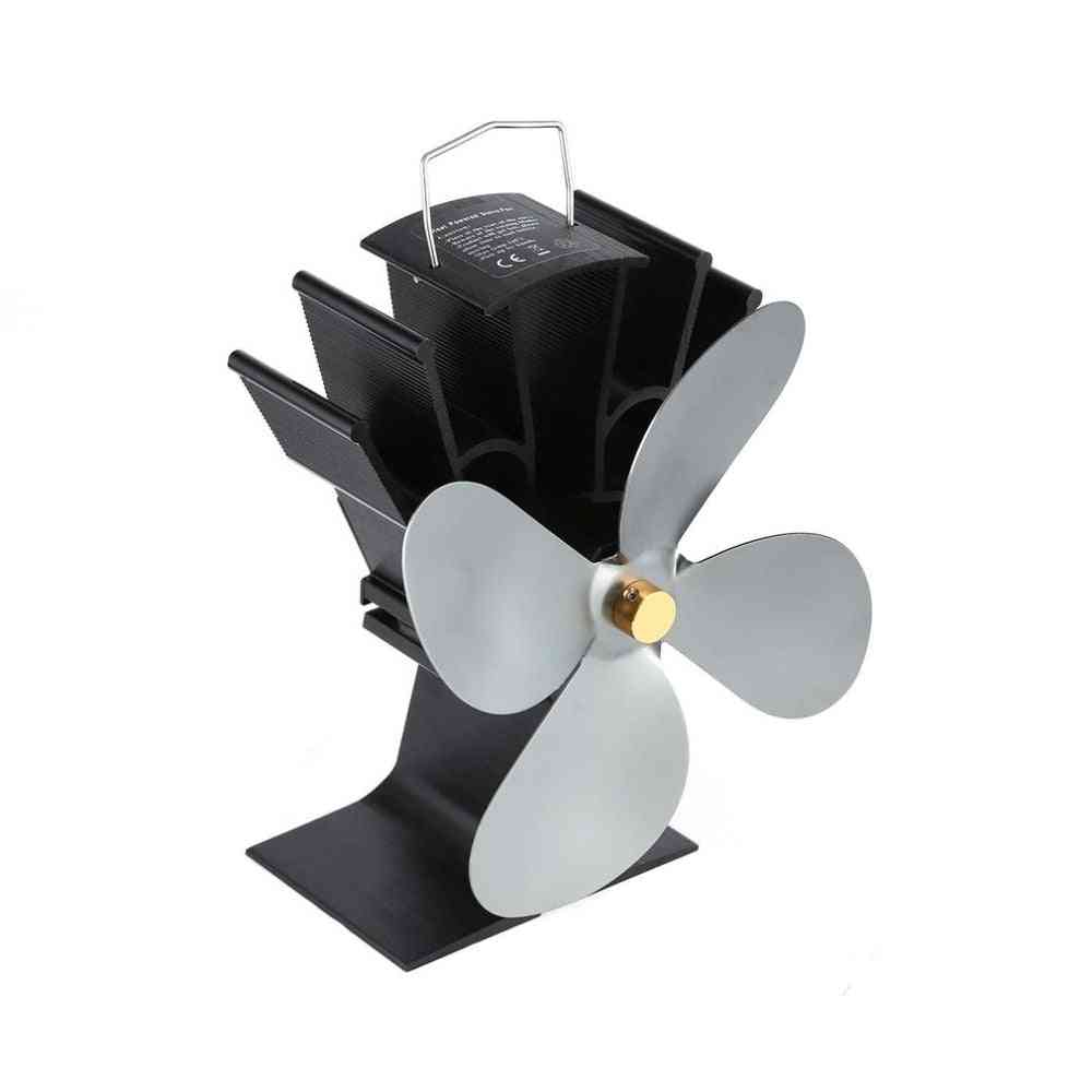Thermal Power Fireplace Eco Friendly Four-leaf Fans