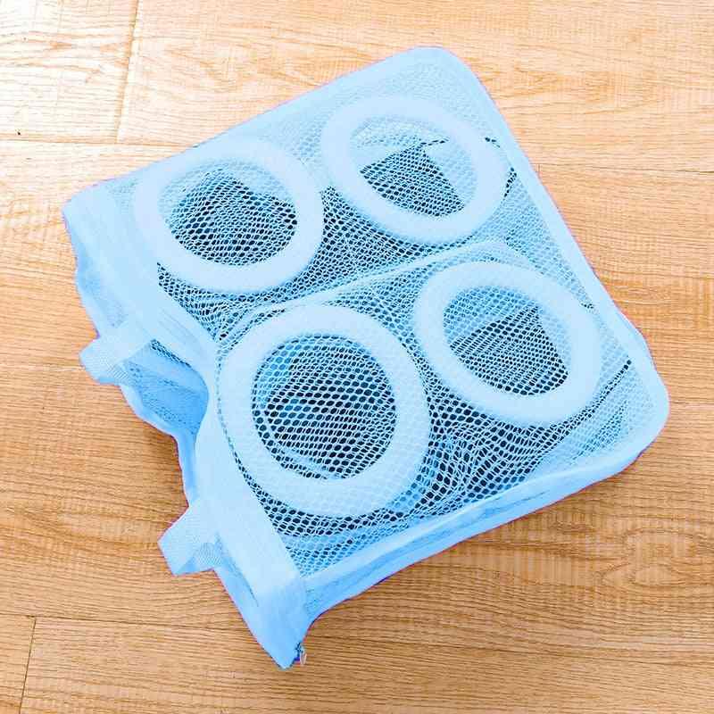 Mesh Laundry Shoes Bags, Portable Washing Bag