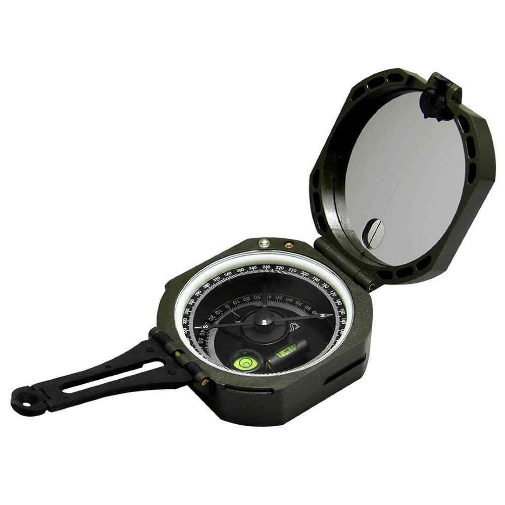 Pocket Transit Outdoor Survival Geological Compass, Lightweight Waterproof