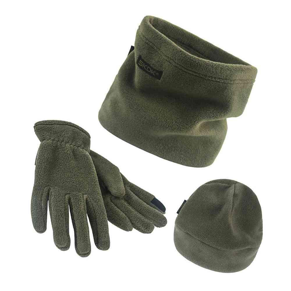 Men & Women Scarf Hat & Gloves Winter Warm Set