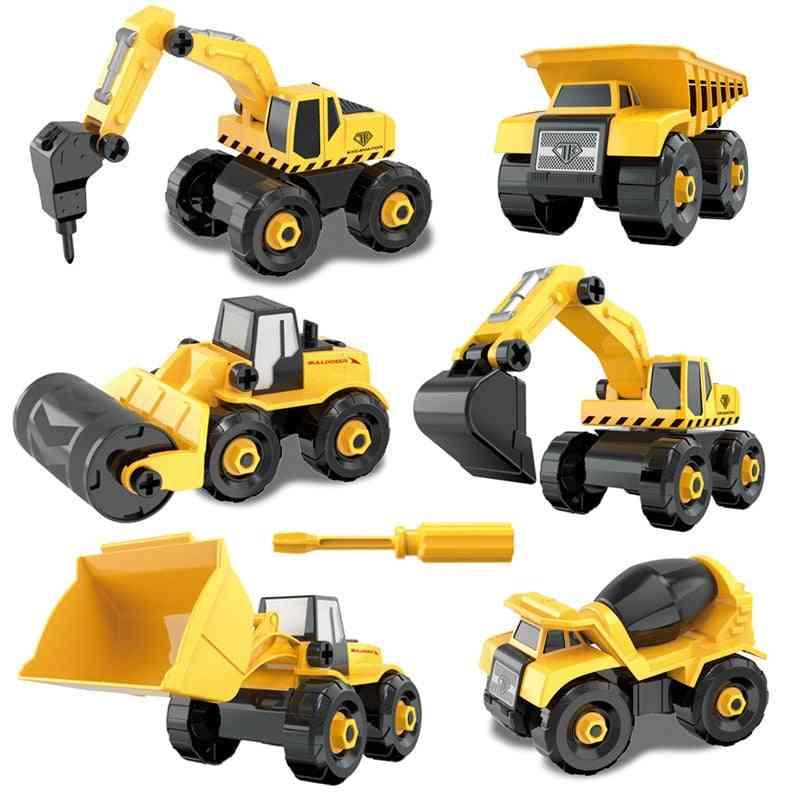 Montessori Diy Blocks, Screw Nut, Assembly Cement Truck - Vehicle Model Toy