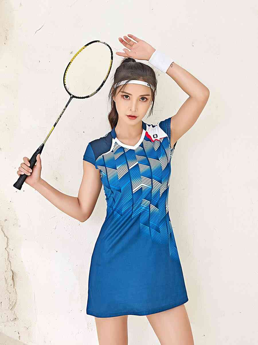Women Tennis / Badminton Dress Suit, Quick-drying Breathable Shorts
