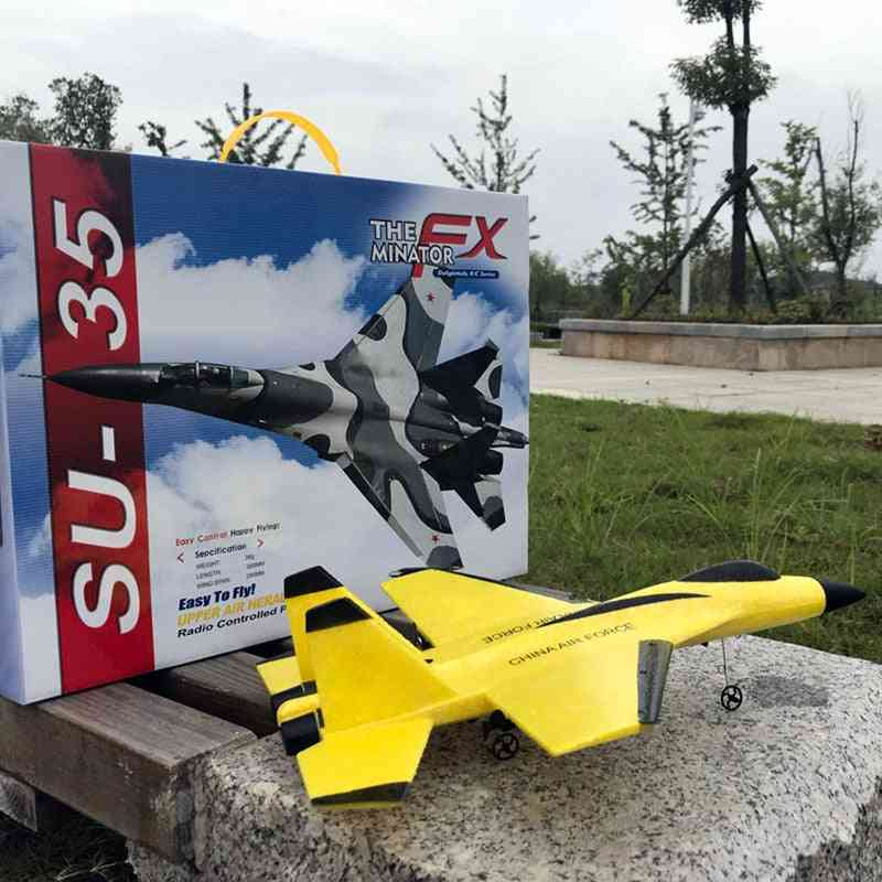 2.4g Glider Rc Drone Su35 Fixed Wing Airplane Hand Throwing Foam Dron Electric Remote Control F22