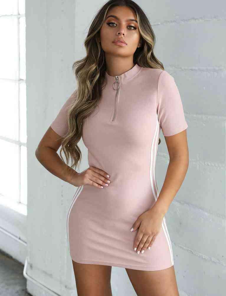 Women Short Dress, Bodycon Long Sports Top