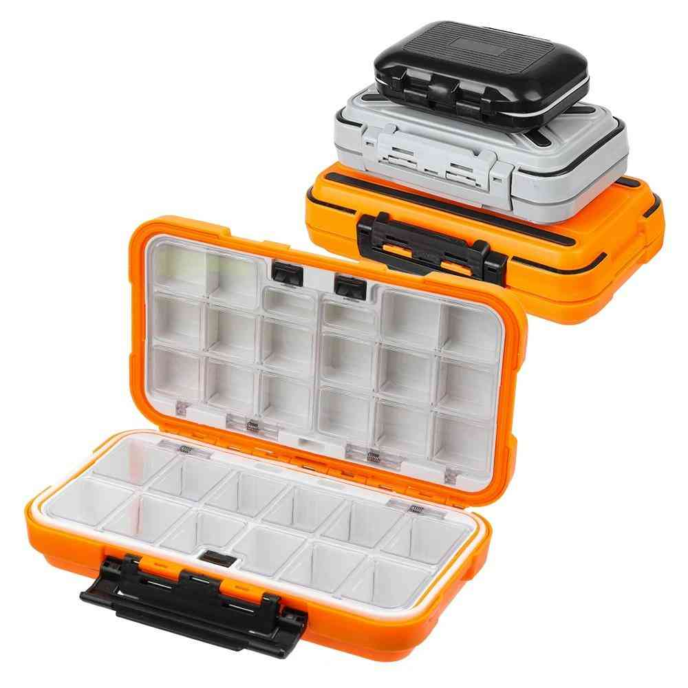 Fishing Tackle Box, Waterproof Double-side Bait Lure Hooks Storage Boxes