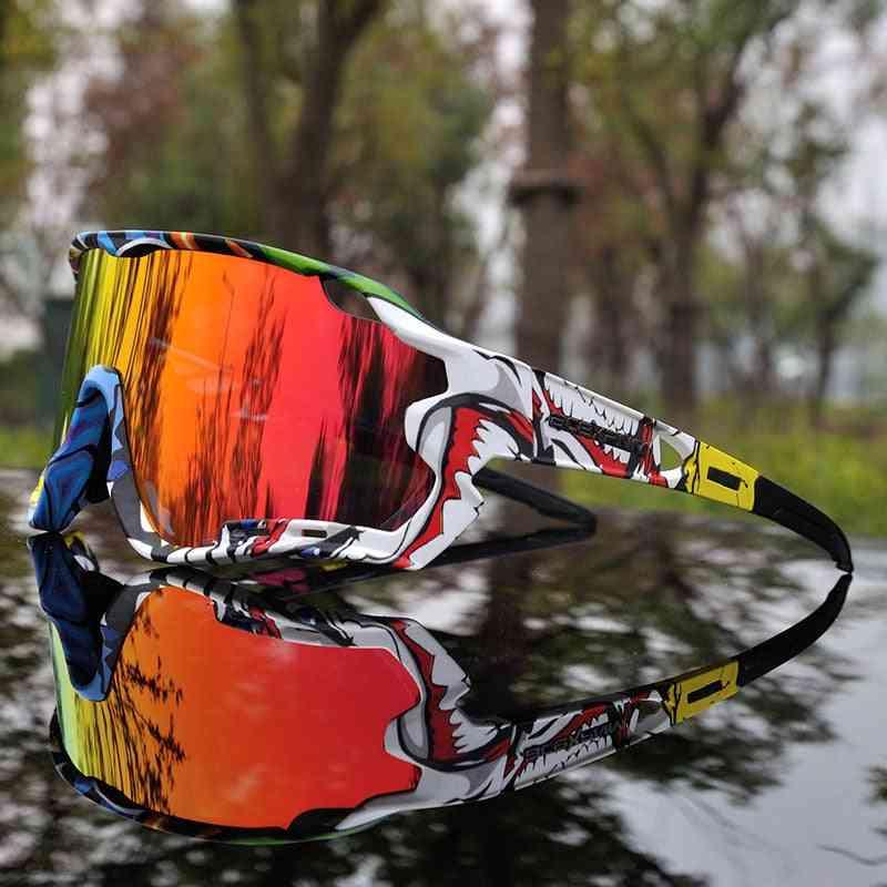 Polarized Cycling Glasses Mountain Bike Goggles, Outdoor Sports Eyewear
