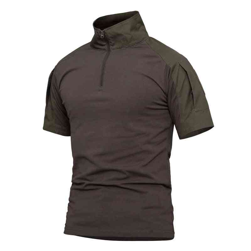 Summer Short Sleeve Combat T-shirt, Quick Dry Tactical Shirt