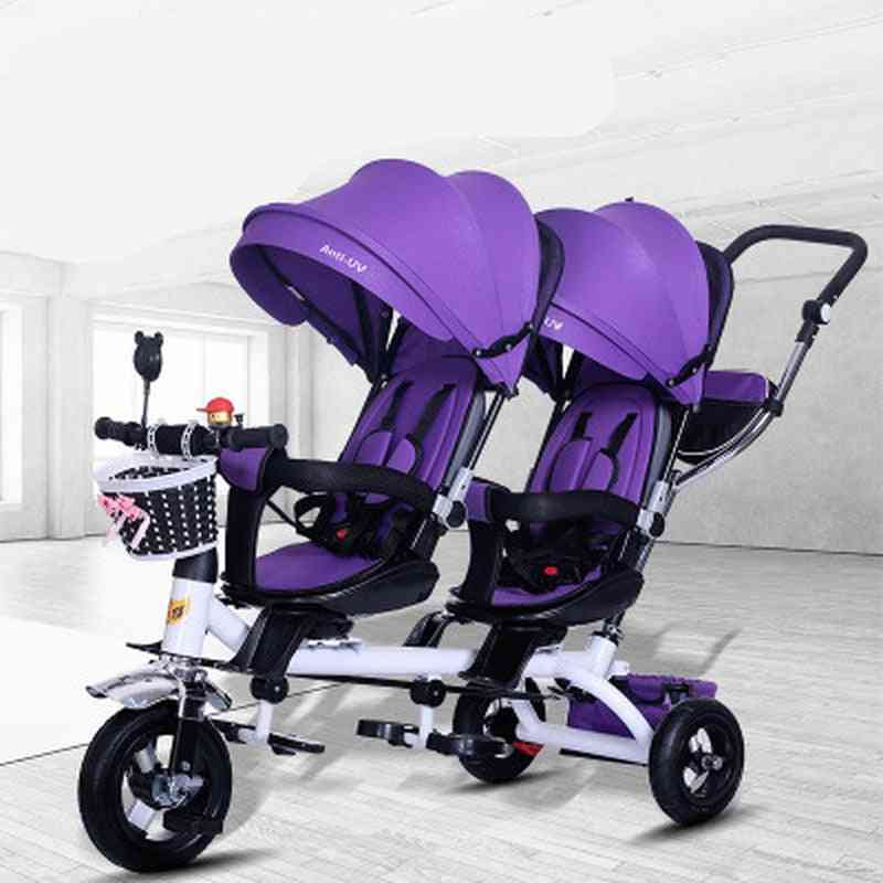 Baby Strollers Double Twin With Air Wheel, Universal Travel Pram Double Seat