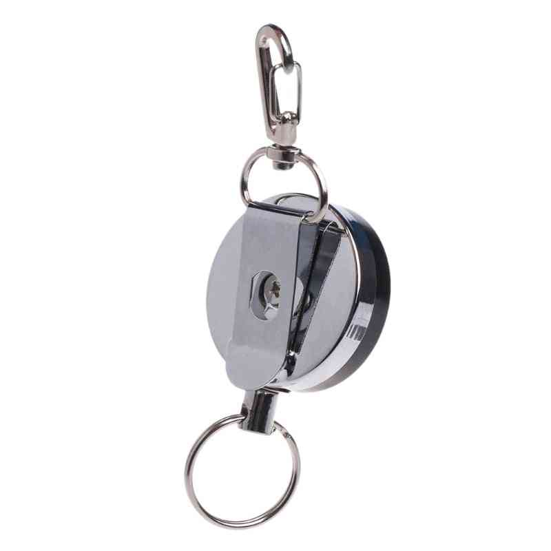 Retractable Steel Cable-zinger Key Ring