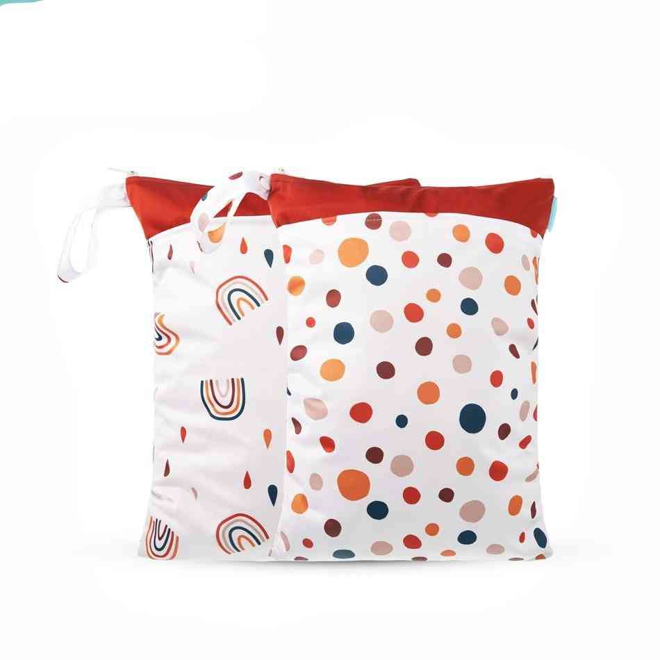 Waterproof Washable Baby Diaper Cloth Bag-dry And Wet Separation