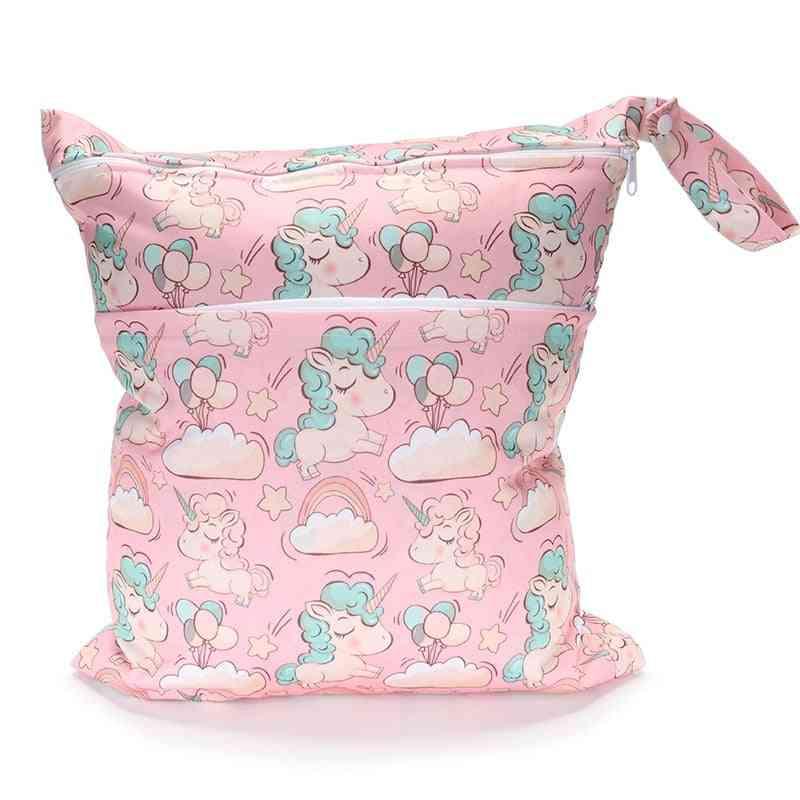 Double Zipper Waterproof Diaper Bags