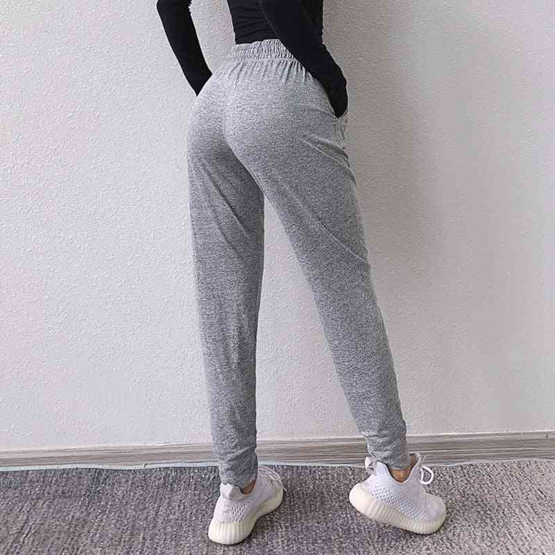 Loose Sports Pants With Pocket- Elastic Waist Fitness Trousers