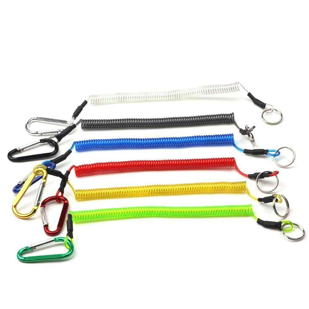 Fishing Lanyard With One Clip And Metal Ring At Each End