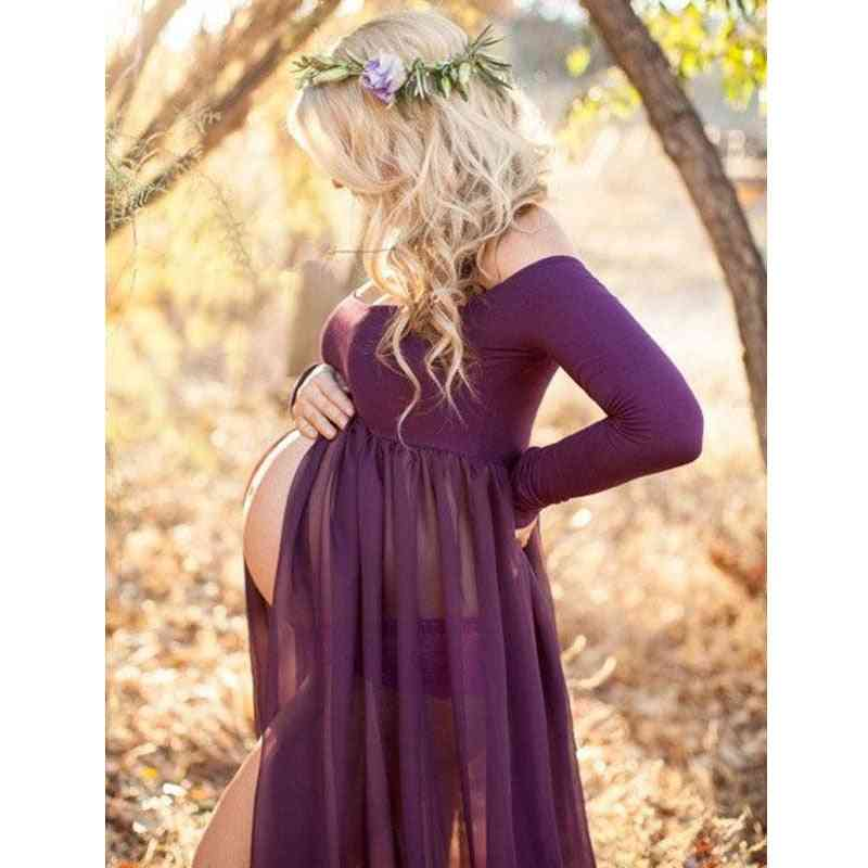 Photo Shoot Maxi Gown Dresses Maternity Clothes For Pregnant Women