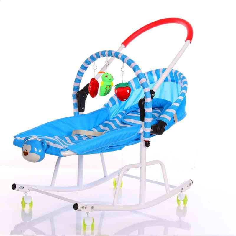 Disassemble Metal Baby Cradle With Light Music Player, Bassinet Rocking Chair