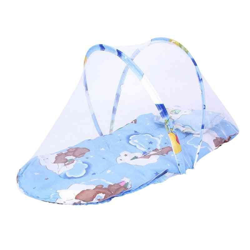 Travel Sun Protection Mosquito Net With Portable Bassinet Baby Foldable Breathable Infant Sleeping Basket