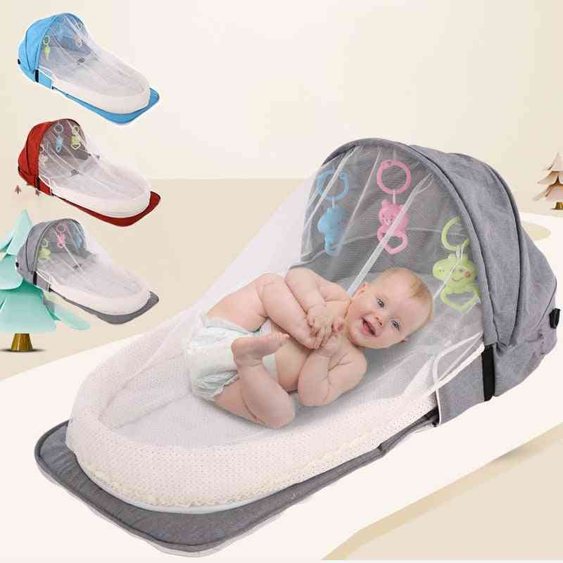 Baby Travel Portable Mobile Crib Baby Nest Cot Newborn Multi-function Folding Bed