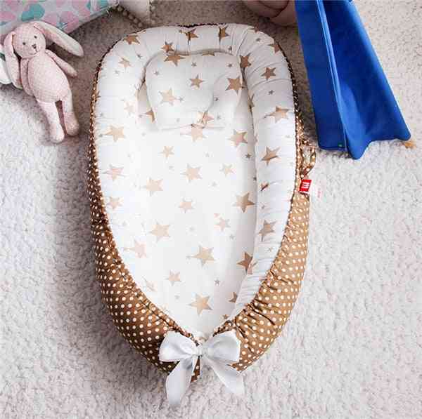 Portable Baby Nest Bed With Pillow Cushion