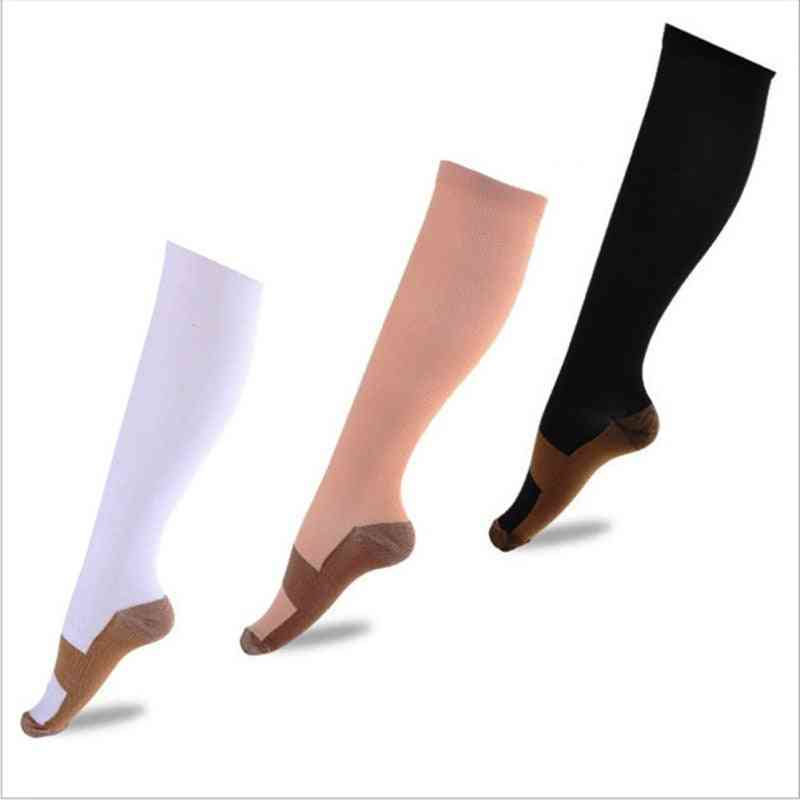 Long, Knee High And Pain Relief Compression Socks With Copper Infused Fiber
