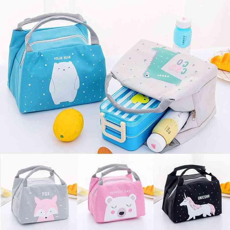 Cartoon Animal Baby Food Storage Thermo Bag, Food Warmer Insulation Bag Milk Bottle Holder