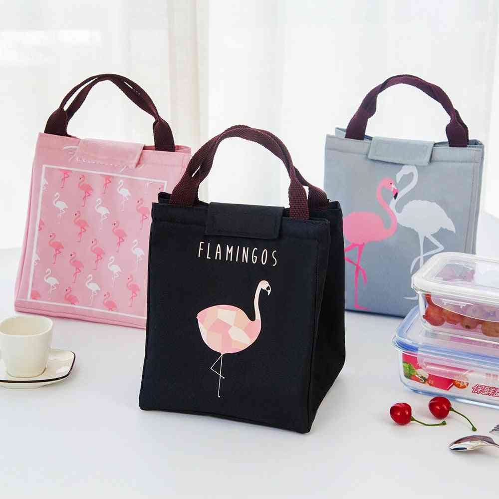Baby Food Milk Insulation &flamingo Storage Waterproof Lunch Bag