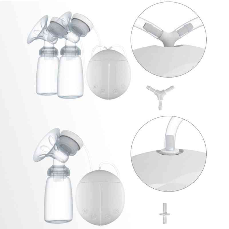Electric Double Breast Pump Kit With Milk Bottles