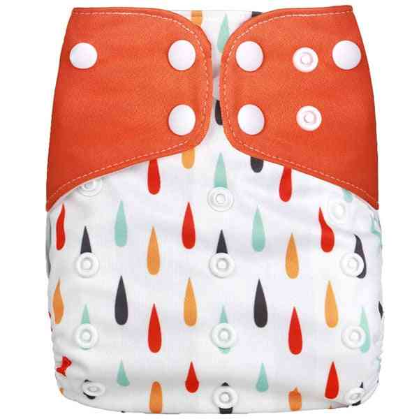 Adjustable Reusable Washable Cotton Cloth Diaper With 1 Pad 3 Layer
