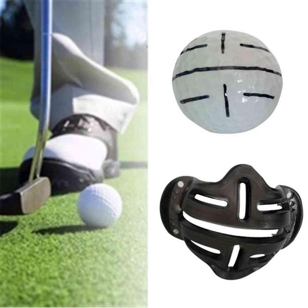 Golf Ball Alignment Identification Putt Positioning Line Marker Training Template Tool