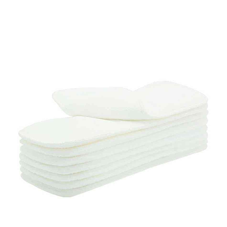 Washable / Reuseable Baby Cloth Diapers Nappy Inserts Microfiber 3 Layers