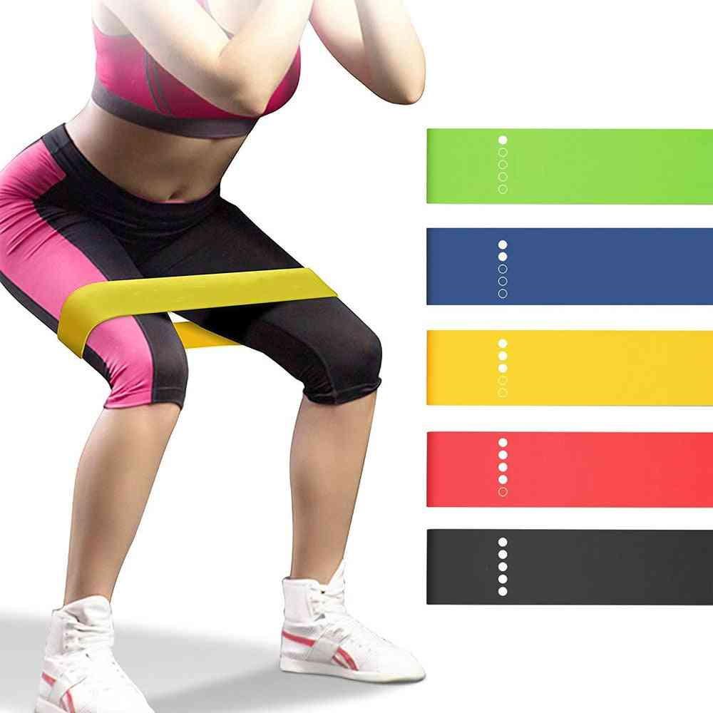 Yoga Resistance Bands Loop Stretching Pilates Fitness Equipment Gym Sport Training Workout