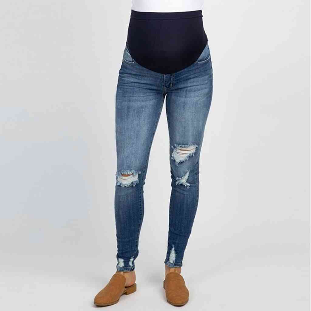 Pregnant Woman Ripped Jeans Maternity Pants / Trousers