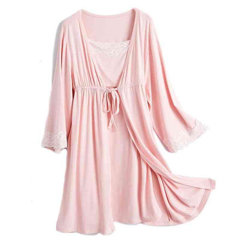 V-neck Full Sleeve, Nightwear Maternity Dress