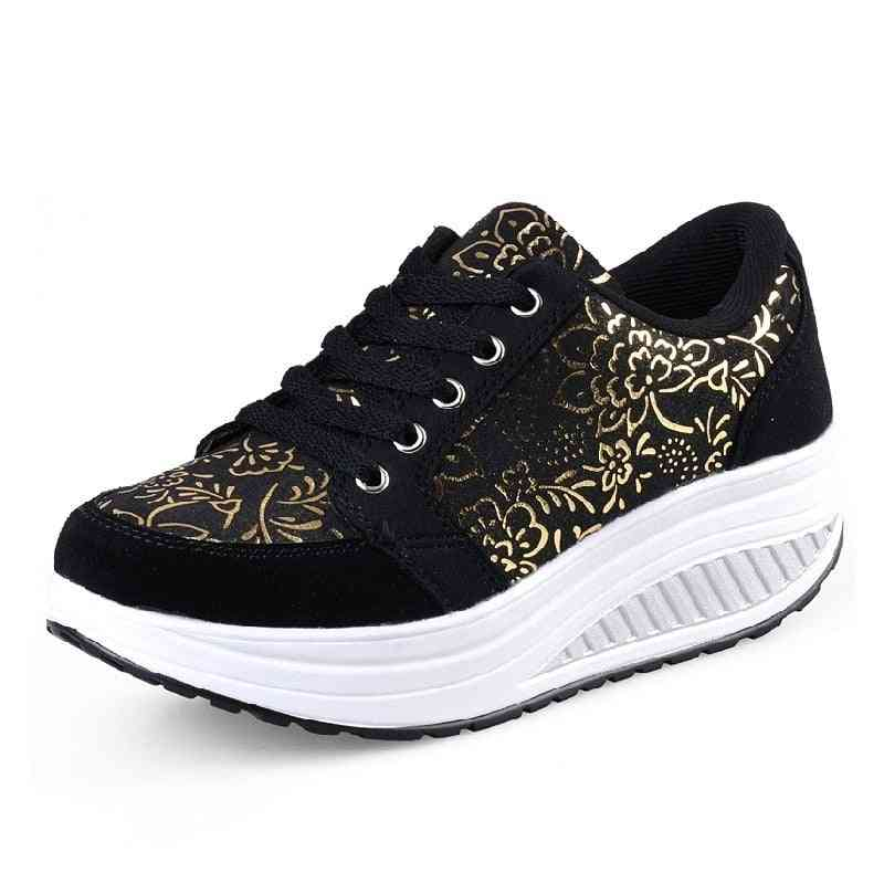 Breathable Sports Platform Shoes For Women