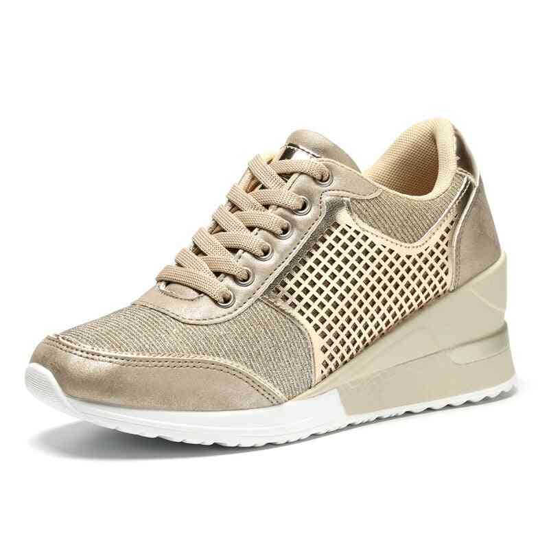 New Brand Lightweight Toning Shoes For Women Breathable Increase Wedge High Sneakers