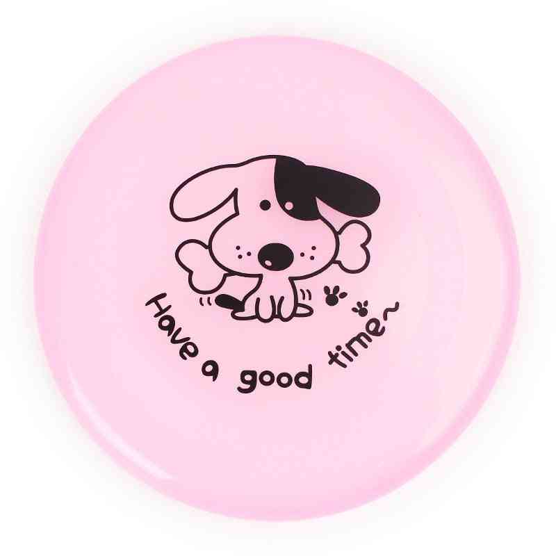 Elasticity Plastic Cartoon Throw And Catch Flying Disc