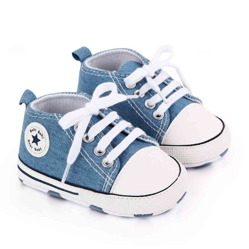 Classic Sports Sneakers Newborn Baby First Walkers Shoes, Soft Sole Anti-slip Shoe